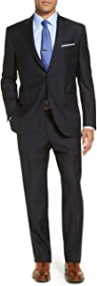 Luciano Natazzi Men's Modern Fit Two Button Faint Tone On Tone Stripe Suit