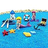 EMiEN Sommer Strand Thema Meerjungfrau Figuren Miniatur Fee Garten Ornament Kits für DIY Puppenhaus...