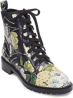 dd3a274369f Steve Madden Womens Officer Faux Leather Combat Boots Multi 8 Medium (B