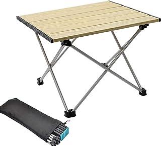 LXHDKDT Table de Camping Camping en Plein air Table Pliante Portable randonnée pêche Pique-Nique Ultra léger Mini Bureau T...