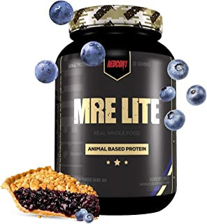 Redcon1 MRE Lite (Blueberry Cobbler) 30 Servings, Animal Based Protein, Contains No Whey, No Bloating, Keto Friendly, 2G S...