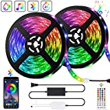 10M Bluetooth Striscia LED Musicale 5050 RGB Impermeabile IP65 SMD, Akapola 300 LED TV Ret...