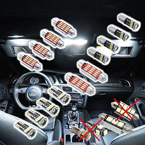 LED SMD 4014 Éclairage d'intérieur Kit LED SMD Éclairage d'intérieur Blanc 11 pièces Blanc Canbus Xenon