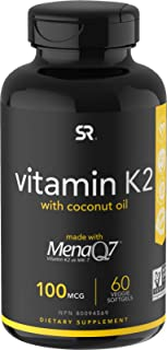 Vitamin K2 (as MK7) with Organic Coconut Oil | Made with MenaQ7 from Fermented Chickpea | Non-GMO Verified, Vegan Certifie...