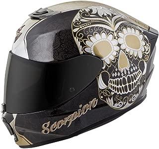 Scorpion Unisex-Adult Full-face-Helmet-Style Sugarskull (Black/Gold, Medium) - 75-1137M