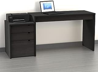 Nexera Sereni-T 3 Drawer Reversible Desk in Black and Ebony