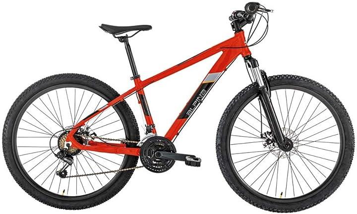 Bicicletta mountain bike ragazzo, rosso, 27.5 alpina bike flipper B08SL34DJY