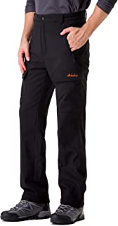 Clothin Men's Softshell Fleece-Lined Cargo Pants - Warm, Breathable, Water-Repellent, Wind-Resistant-Insulated