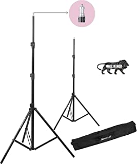 Sonia LS-250 9 Feet Umbrella Flash Portable Foldable Combo Light Stand for Photography Set of 2 with Carry Bag Case for tiktok Video Photo Studio Shooting (Black)