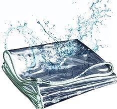 Transparante Waterdichte Tarp, gebruikt voor exterieur ramen, balkons, serres, tuinen, Landbouw Bloemen, Camping Tarps,3mX7m