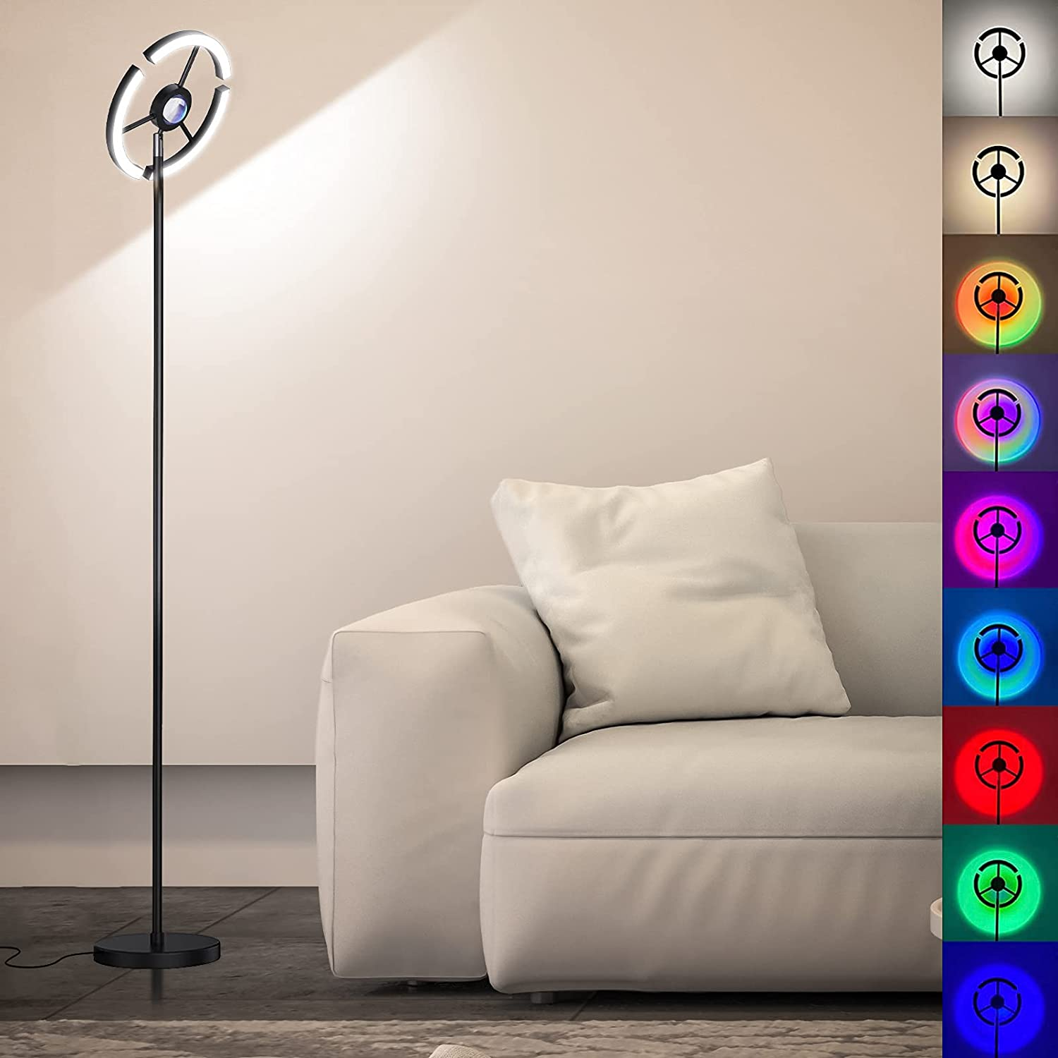 Floor Lamp Dimmable Standing with in Very popular lowest price 7 2 Colors Sunset