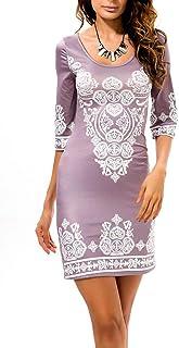 Jixin4you Women Half Sleeve Mini Bodycon Dress CE07