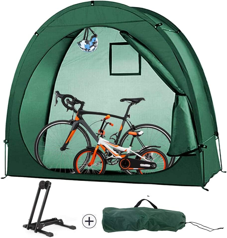 HGYYIO Bike Tent + Trust Rack Set Stand Floor Charlotte Mall Portable Foldable