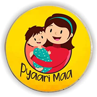 TheYaYaCafe Pyaari Maa Fridge Magnet for Mom (Round)
