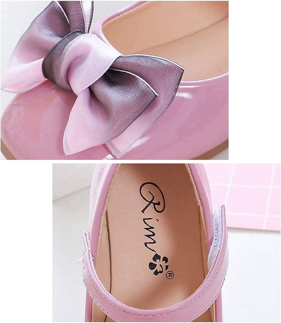 DEBAIJIA Fille Princesse Chaussures 2-9 Ans Mode Enfants Classique Belle Fleur Tendance Printemps Automne Fond Doux en Cuir Effectuer La Danse Douce Petit Frais en Plein Air Marche