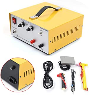 Jewelry Spot Welding Machine, 80A 110V Spot Welder with Foot Pedal Welding Accessories and Tools for Gold Silver Platinum Jewelry