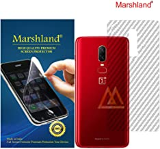 Marshland 3D Carbon Fiber Flexible Back Screen Protector Anti Scratch Bubble Free Back Screen Guard Compatible for Oneplus 6 / One Plus 6