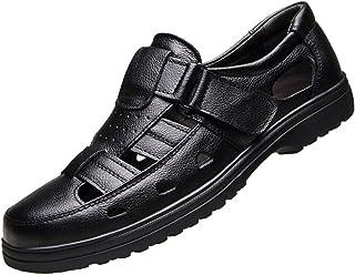 [WEWIN] ビジネスシューズ メッシュ メンズ 革靴 軽量 本革 スリッポン ベルクロ オフィスサンダル ドライビング カジュアル 職場用 通気性 厚底 快適 蒸れない 滑り止め