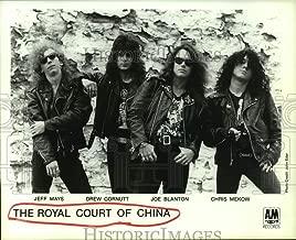 1989 Press Photo The Royal Court of China - hard rock band - hcp09907