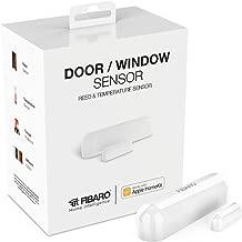 Fibaro Door Window Sensor White iOS Reed and Temperature Smart Device, FGBHDW-002-1, works with HomeKit