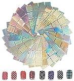 288 piezas de plantillas de arte de uñas, pegatinas de pegatinas de uñas AOBETAK, 24 láminas de 96 diseños diferentes de pegatinas,good nail art stencial kit