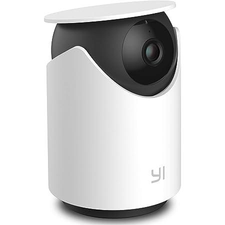 Yi Camara Vigilancia WiFi Interior, Dome U Cámara de Vigilancia WiFi 1080P CAM IP HD Visión Nocturna Detección de Movimiento y Humanos Control Remoto Monitor para Bebé Mascota