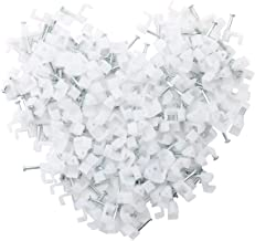 Ethernet Cable Clips Jadaol 200 Pieces for Cat 6 Flat Cables White - 7 mm