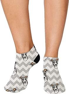 Italian Greyhound Dog Zigzag Pattern Men-Women Adult Ankle Socks