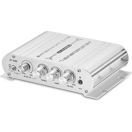 パワーアンプ 小型 2.1チャンネル HiFi ステレオ 音声増幅器 CD DVD PC MP3 スピーカー家庭用・車載用適用