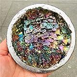 FENGNANMY Piedras Curativas Natural Hermoso Espécimen Mineral Bismuth Crystal Iridiscente Minerales Rocas Artículos de Muebles para el hogar