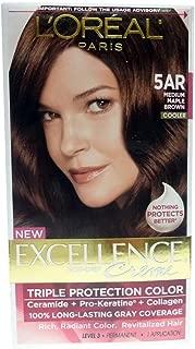 L'Oreal Excellence Creme - 5AR Velvet Brown (Medium Maple Brown) 1 Each (3 pack)