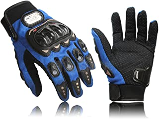 COOLSKY Carbon Fiber Sports Bicycle Motorcycle Motorbike Powersports Racing Full Finger Gloves (3 Colors Available)