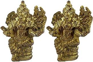 Divya Mantra Sri 16 Hands Ganesha Veerganapati God Idol Sculpture Statue Murti - Puja Room, Meditation, Prayer, Office, Ho...
