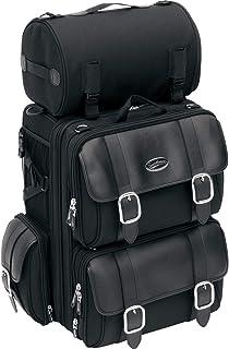 Saddlemen 3515 0086 Deluxe Sissy Bar Tasche mit Nieten, schwarz