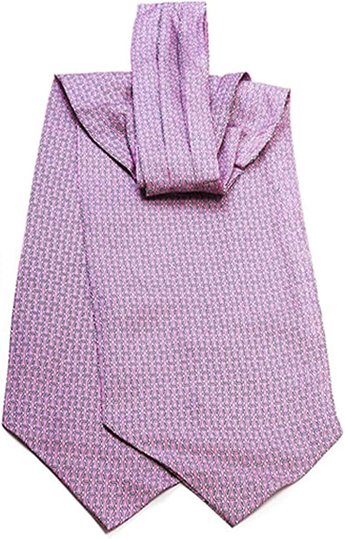 Pink Cone Pattern Ascot Tie