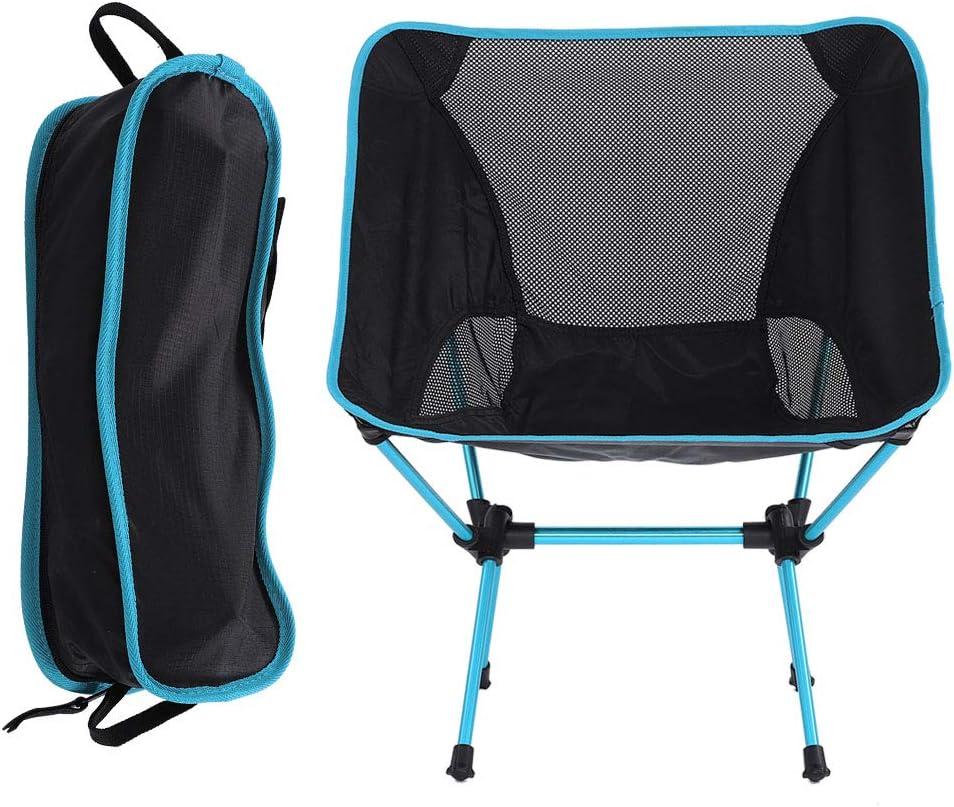 jard/ín barbacoa. port/átil asiento plegable para camping plegable ligera senderismo pesca SH-RuiDu Silla de camping duradera