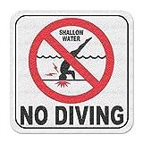 Aquatic Custom Tile Vinyl 3M Adhesive Swimming Pool Deck Depth Marker International No Diving Non-Slip