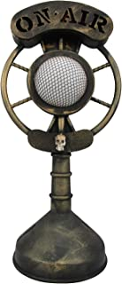 Spooky Classic Radio Microphone Light Up Broadcast Ghost Story Halloween Prop