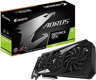 GIGABYTE AORUS GeForce GTX 1660 Ti 6G グラフィックスカード 3X 風力ファン 6GB 192ビット GDDR6 Gv-N166TAORUS-6GD ビデオカード