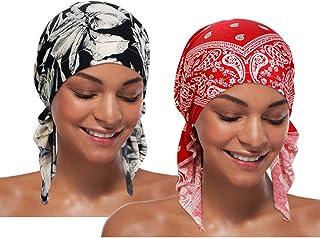 ASHILISIA Women Chemo Hat Turban Beanie - Head Scrarf Wrap Tied Headwear Bandana for Hair Loss