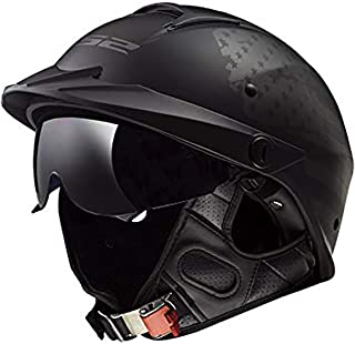 LS2 Helmets Rebellion Motorcycle Half Helmet (1812 Black Flag – X-Large)
