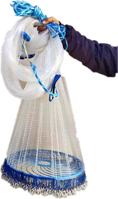 Iron Chain Frisbee Hand Throwing Net Fishing Nets Iron Chain Fishing Line Big Frisbee 360 (1.8m High) (Size   3.3m)