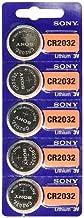 Sony CR2032 3V Lithium 2032 Coin Battery, 5 Pack