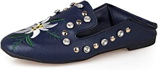 lcky Two Rhinestone Embroidered Shoes Fashion Shoes Loafers Flat Shoes