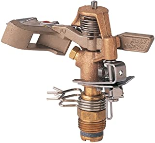 Rain Bird 25PJDAC Brass Impact Sprinkler, Adjustable 20° – 360° Pattern, 20'..