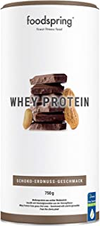 comprar comparacion foodspring Proteína Whey, Sabor Chocolate y Crema de Cacahuete, 750g, 100% proteína de suero de leche, Proteína en polvo p...