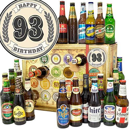 Geschenk zum 93. / Weihnachtskalender mit Bier / 24 Biere aus der Welt