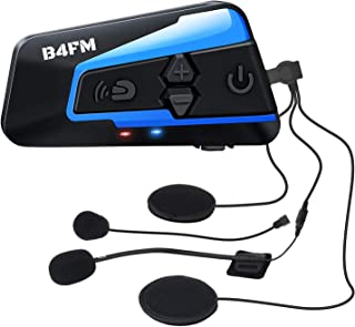 LX-B4FM バイク インカム 4riders 4人同時通話 FMラジ Bluetooth防水インターコ バイク用インカム スマホ音楽再生 Siri/S-voice IP67防水 無線機いんかむヘルメット用インカム 連続15時間の長時間通話 ...