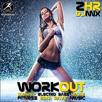 Workout Dubstep Electro Bass House Fitness EDM Rave Music 2 Hr DJ Mix