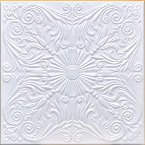 """50pc of Astana White (20""""x20"""" Foam) Ceiling Tiles - Covers About 135sqft"""